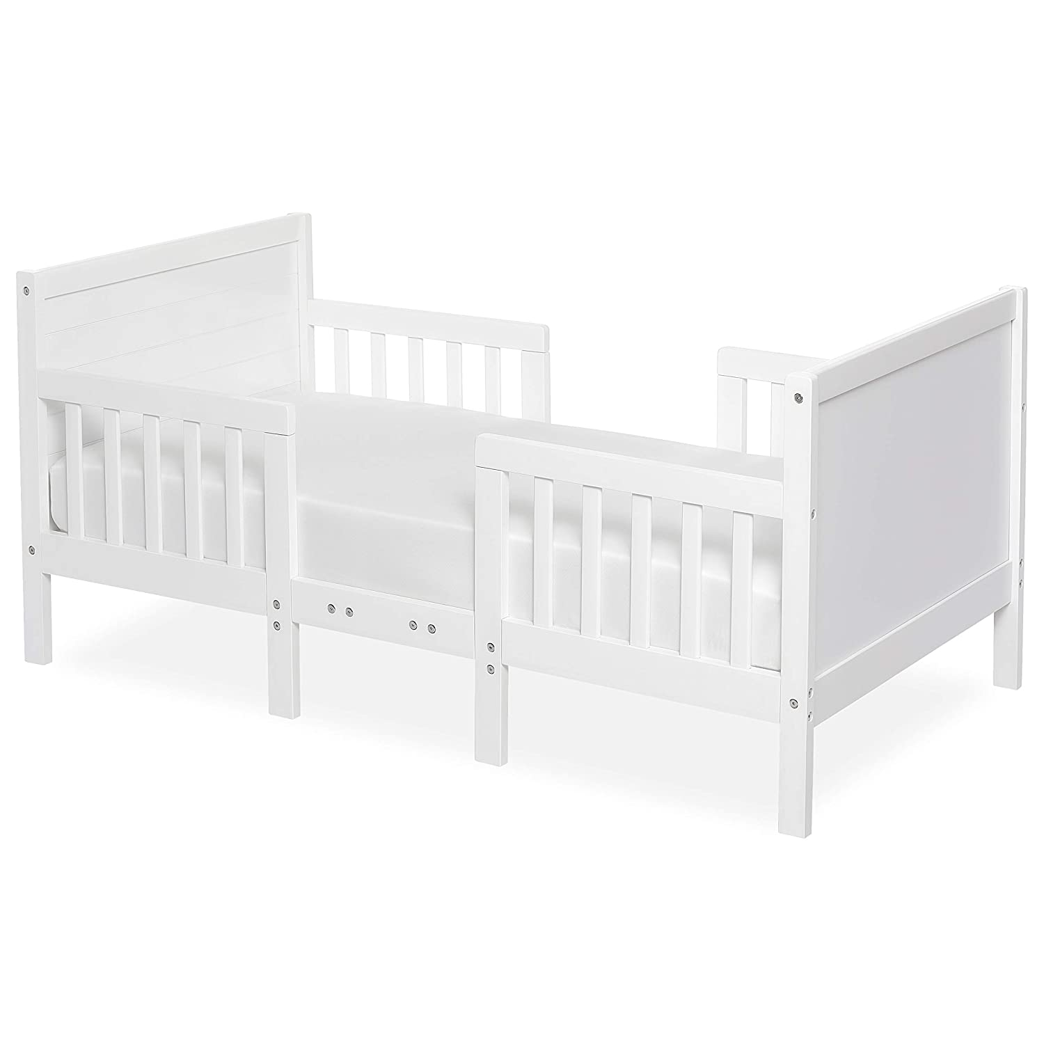 Dream On Me Hudson 3 In 1 Convertible Toddler Bed, White