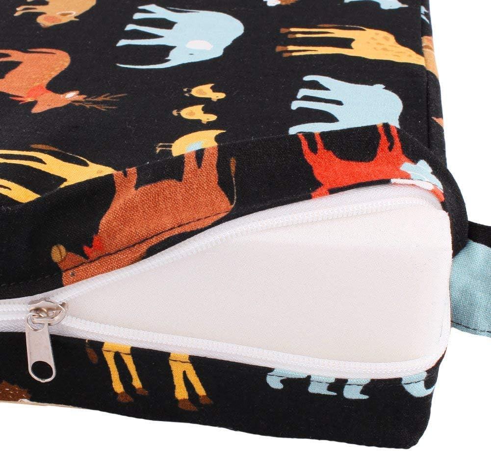 Beige Xuxuou Coussin de Chaise de Salle /à Manger Enfant Avec Sangles R/églables,Portable R/éhausseur de Sac de Voyage de Stockage de Chaise