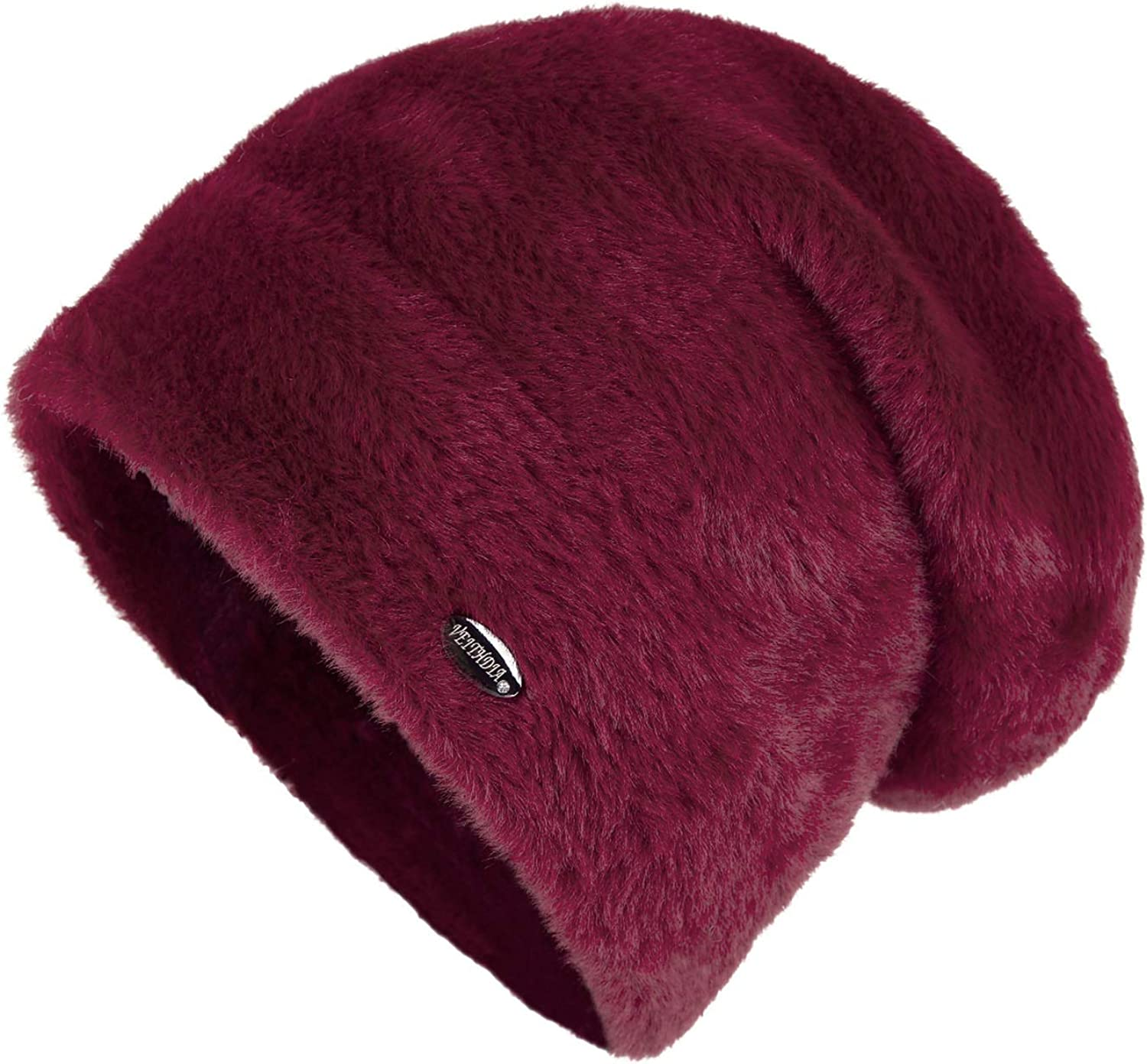 CoolBao Women Winter Hats Velvet Knitted Like Mink Fur Hat Female Girl Double Thickening Beanies