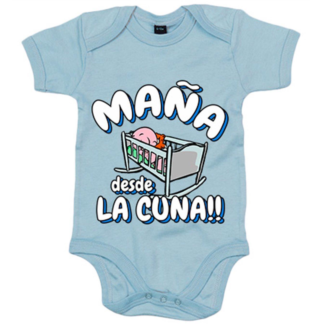 Body bebé Maña desde la cuna Zaragoza fútbol - Azul Royal, 6-12 meses: Amazon.es: Bebé