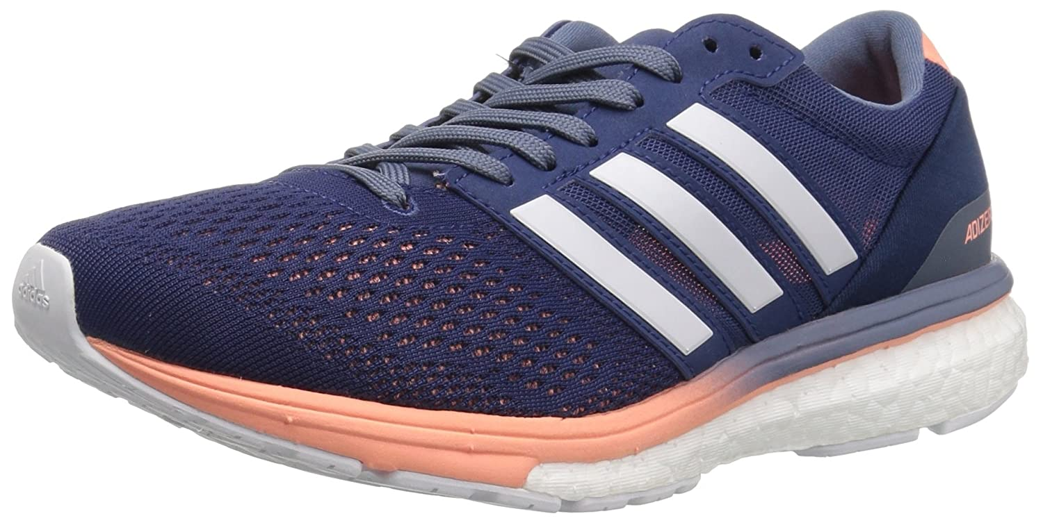 adidas Women's Adizero Boston 6 W Running Shoe B0716YFJ5V 10.5 B(M) US|Noble Indigo/White/Raw Steel