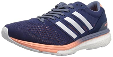 new style 89803 f7dd4 adidas Women s Adizero Boston 6 w, Noble Indigo White Raw Steel, 10