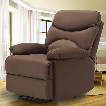 MSG Microfiber Massage Recliner Sofa Chair Ergonomic Lounge Heated  W/Control (Chocolate)