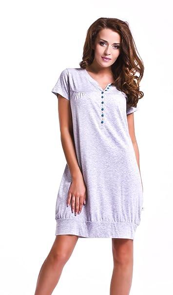 cbaf45102cfb23 dn-nightwear 5009 camisón maternal/de maternidad, L, gris: Amazon.es: Ropa  y accesorios