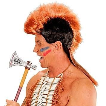 Perucke Irokese Indianer Hauptling Iro Frisur Mohikaner Kunsthaar