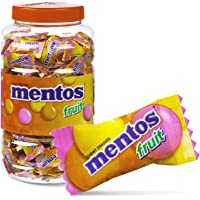 Mentos Chewy Fruit Candy Individually Wrapped in Jar - 200 Pieces