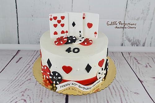Incredible Amazon Com Casino Theme Cake Toppers Las Vegas Cake Birthday Funny Birthday Cards Online Unhofree Goldxyz