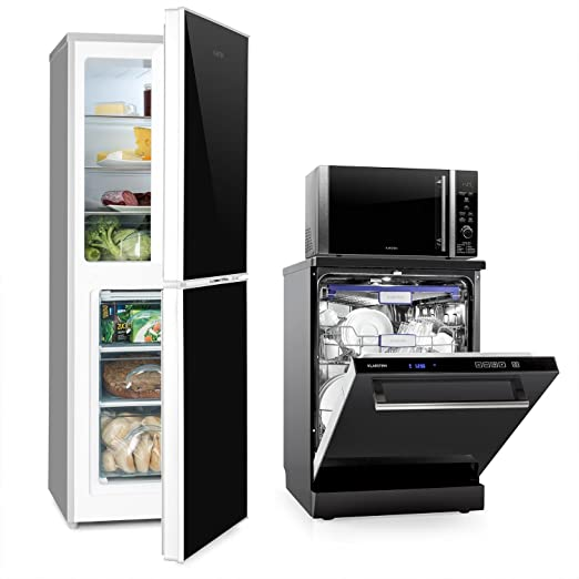 Klarstein Luminance Frost Set cocina (nevera con congelador A+++ ...