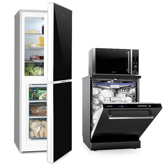 Klarstein Luminance Frost Set cocina (nevera con congelador ...