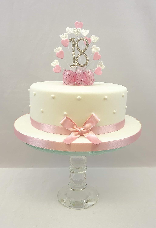 Swell Cake Decoration Cake Topper Heart Burst Spray Diamante 18Th Funny Birthday Cards Online Bapapcheapnameinfo