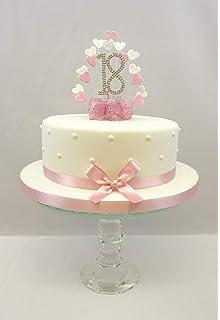 Groovy Cake Decoration Cake Topper Heart Burst Spray Diamante 80Th Personalised Birthday Cards Akebfashionlily Jamesorg