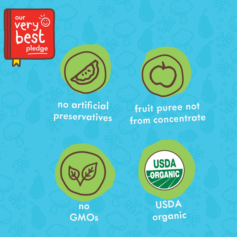 Ella\'s Kitchen 6+ Months Organic Baby Food, Pear + Blueberry Baby ...