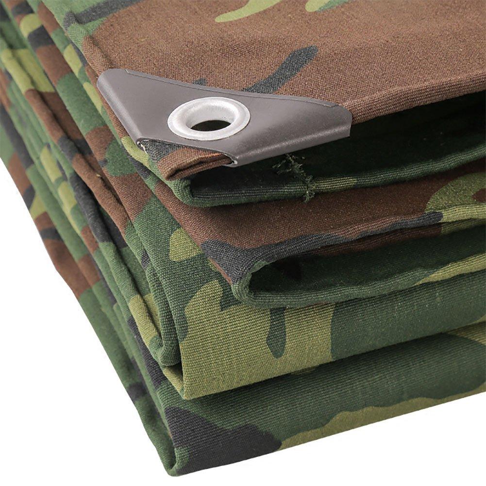 D_HOME Camouflage-Plane-Wasserdichte Hochleistungs-4x6 große Garten-Plane-Blätter im Freien regendichte Plane-Boden-Blatt-Abdeckungs-Schuppen-Stoff-Polyester, 500G   M² (größe   4  7m)
