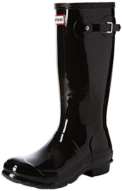 Hunter Kids Unisex Original Gloss Rain Boots (Toddler/Little Kid) Black 8 M