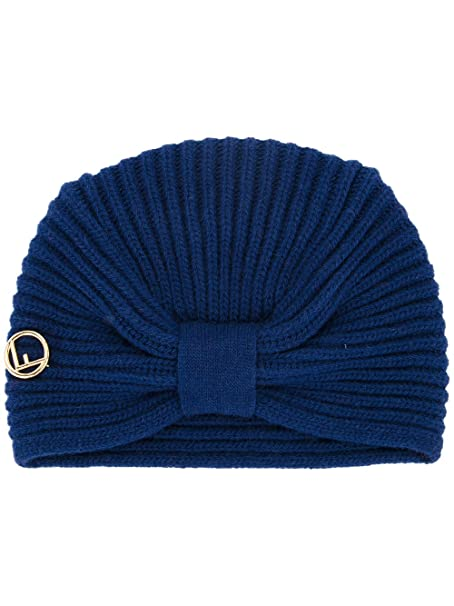 Fendi Cappello Donna Fxq635a115f0qa2 Lana Blu  Amazon.it  Abbigliamento df0bd8f4fdee