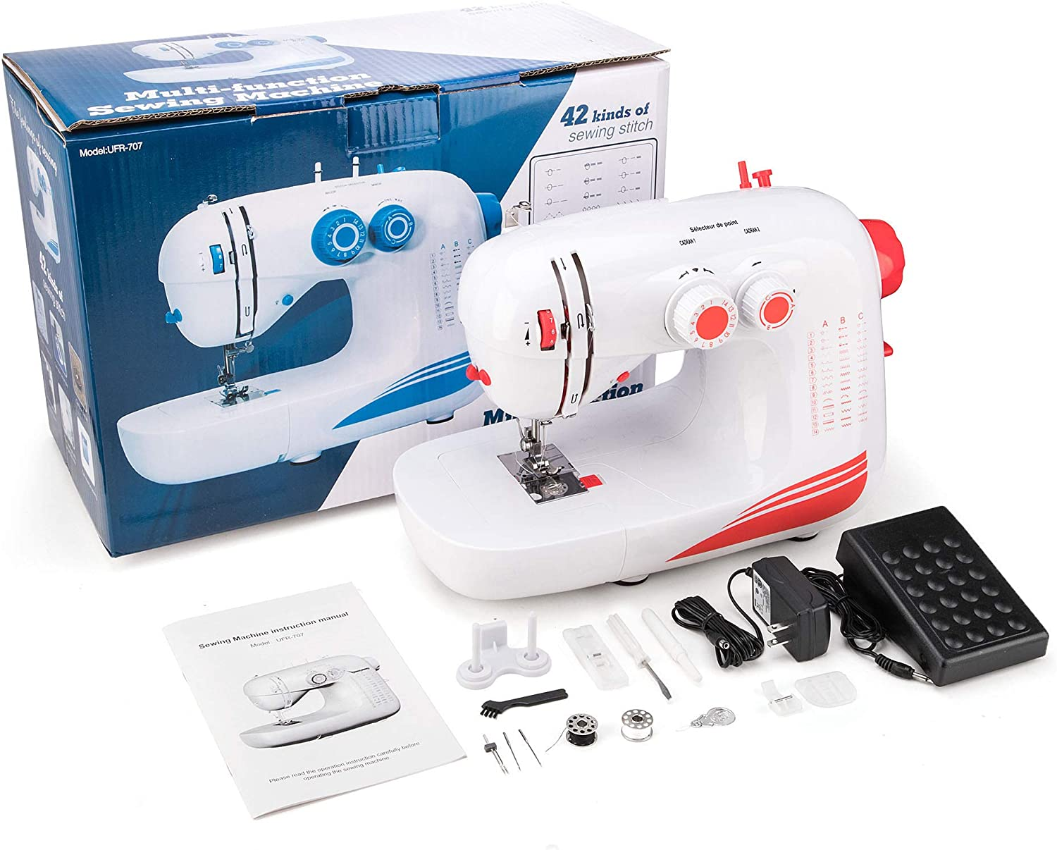 Electric Household Sewing Machines with 42 Built-in Stitch ...