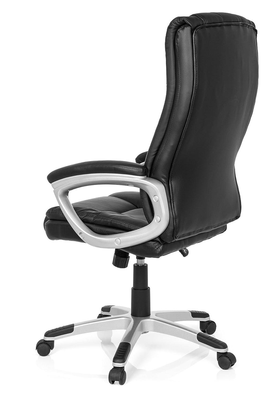 Bürostuhl RELAX CL150 Kunst-Leder Schwarz ergonomischer Chefsessel Chefsessel Chefsessel mit Armlehnen X-XL Schreibtisch-Stuhl Büro-Drehstuhl Hohe Rücken-Lehne MyBuero 725009 28661a
