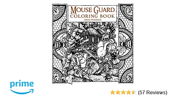 Amazon Mouse Guard Coloring Book 9781608869299 David Petersen Books