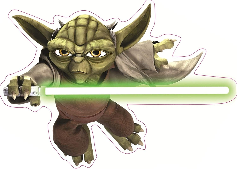 Star Wars Yoda light green vinyl decal