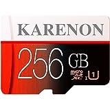 Karenon - Scheda Micro SD da 256 GB, microSDXC 256 GB, classe 10, con adattatore (DE135-KR01)