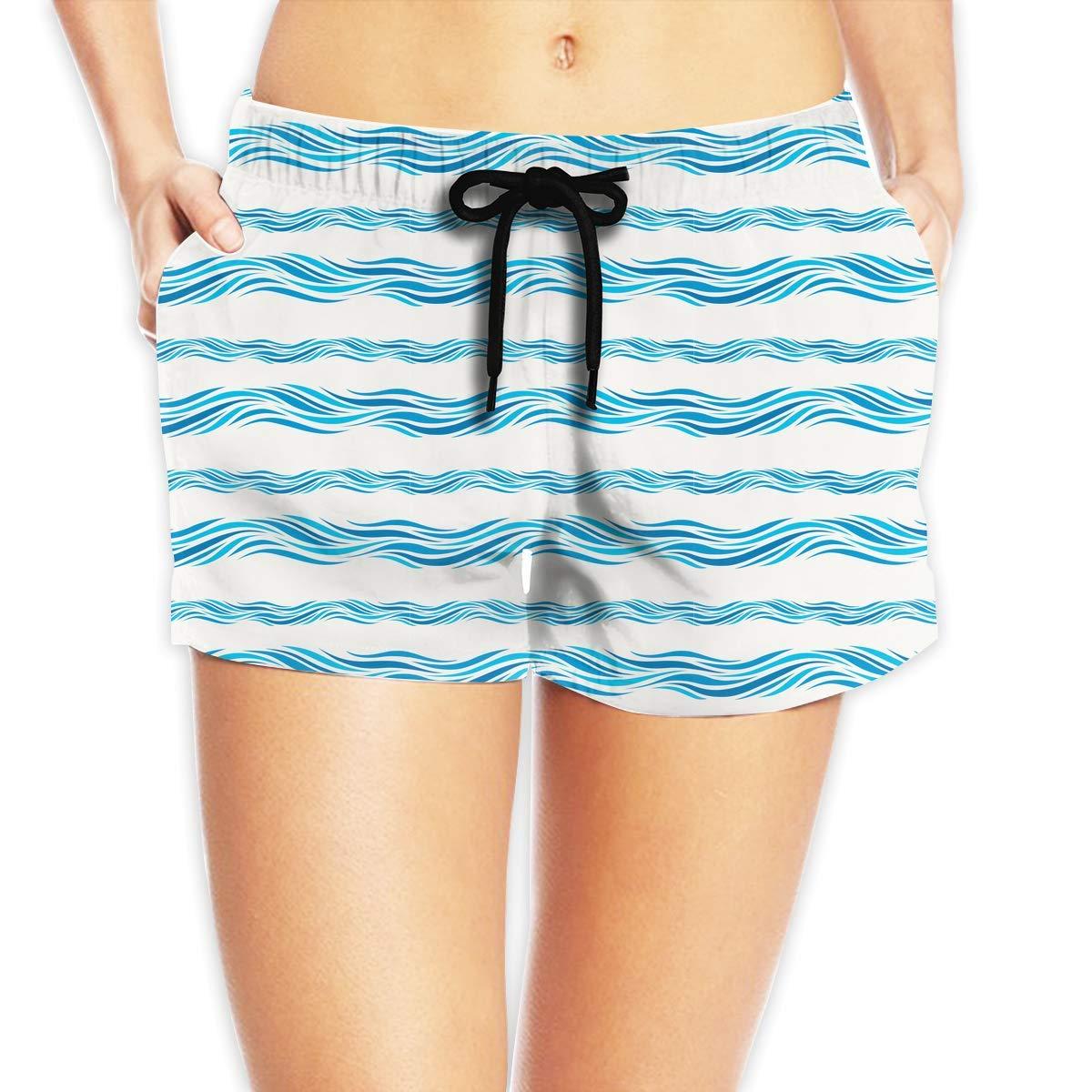 Hlcenng Strawberries Pattern Womens Boardshorts Dry Fit Beachwear