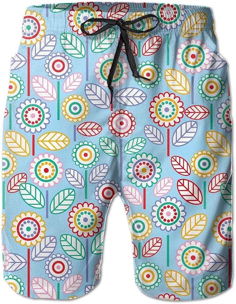 Ouxioaz Boys Swim Trunk Cartoon Rabbit Sunflower Beach Board Shorts