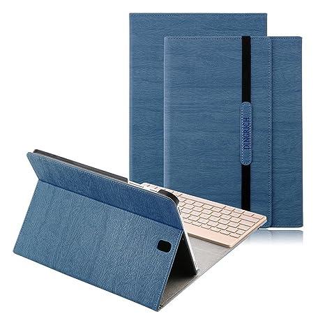 Samsung Galaxy Tab S3 9.7 Teclado Funda, D DINGRICH Bluetooth inalámbrico QWERTY Teclado Case Pare S3 ...