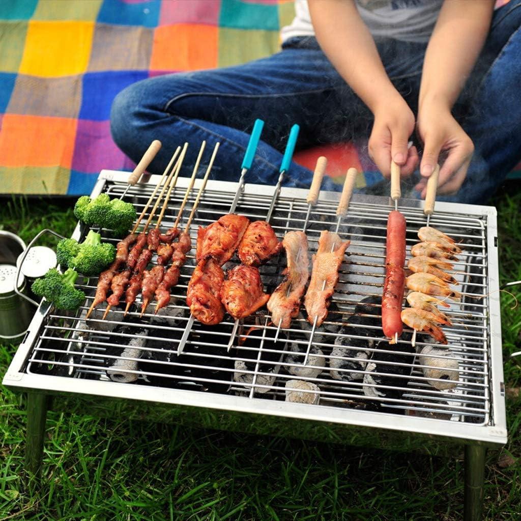 Barbecue Grill Barbecue Grill,Grill Pliant Pliant épais,Barbecue à Charbon extérieur,Barbecue en Acier Inoxydable @ (Couleur: A) A