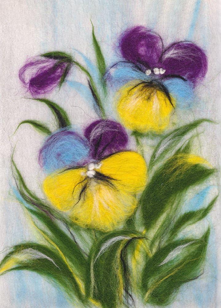 Paintining with Wool kit Poppies WA-0143