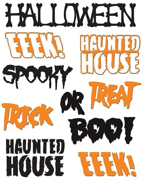 Amazon.com: Little B 100730 8 Piece Halloween Phrases Cutting Dies