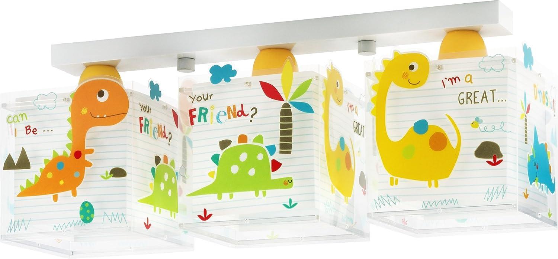 LED Lampe Kinderzimmer Decke Deckenleuchte Dinos 73453 warmweiß 1050lm Mädchen & Jungen