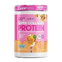 Obvi Multi-Collagen Super Protein Powder (Cinna Cereal, 14 Oz) | Keto-Friendly, Gluten and Dairy Free | Hydrolyzed Grass-Fed Bovine Collagen Peptides | Supports Gut Health, Healthy Hair, Skin, Nails