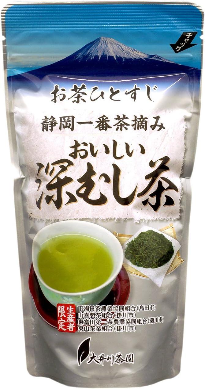 大井川茶園 お茶ひとすじ おいしい深蒸し茶 銀 100g