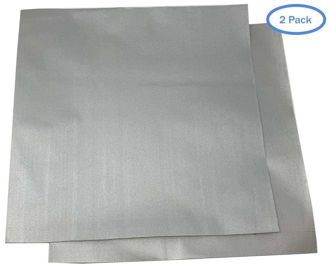 - New Updated Super Strong Self Adhesive Backing 2 Pack RV Covers Car Covers Patch for Car Covers 1 ft x 1ft Patch Motorcycle Covers and More Polyester Material Use On Boat Covers Silver