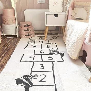 Jeteven Spielzeug Teppich Matte Kinder Baby Kinderteppich Mat Wandteppich  Kinderzimmer Deko groß und dünn mädchen Jungen Game Carpet 170X72cm Beige