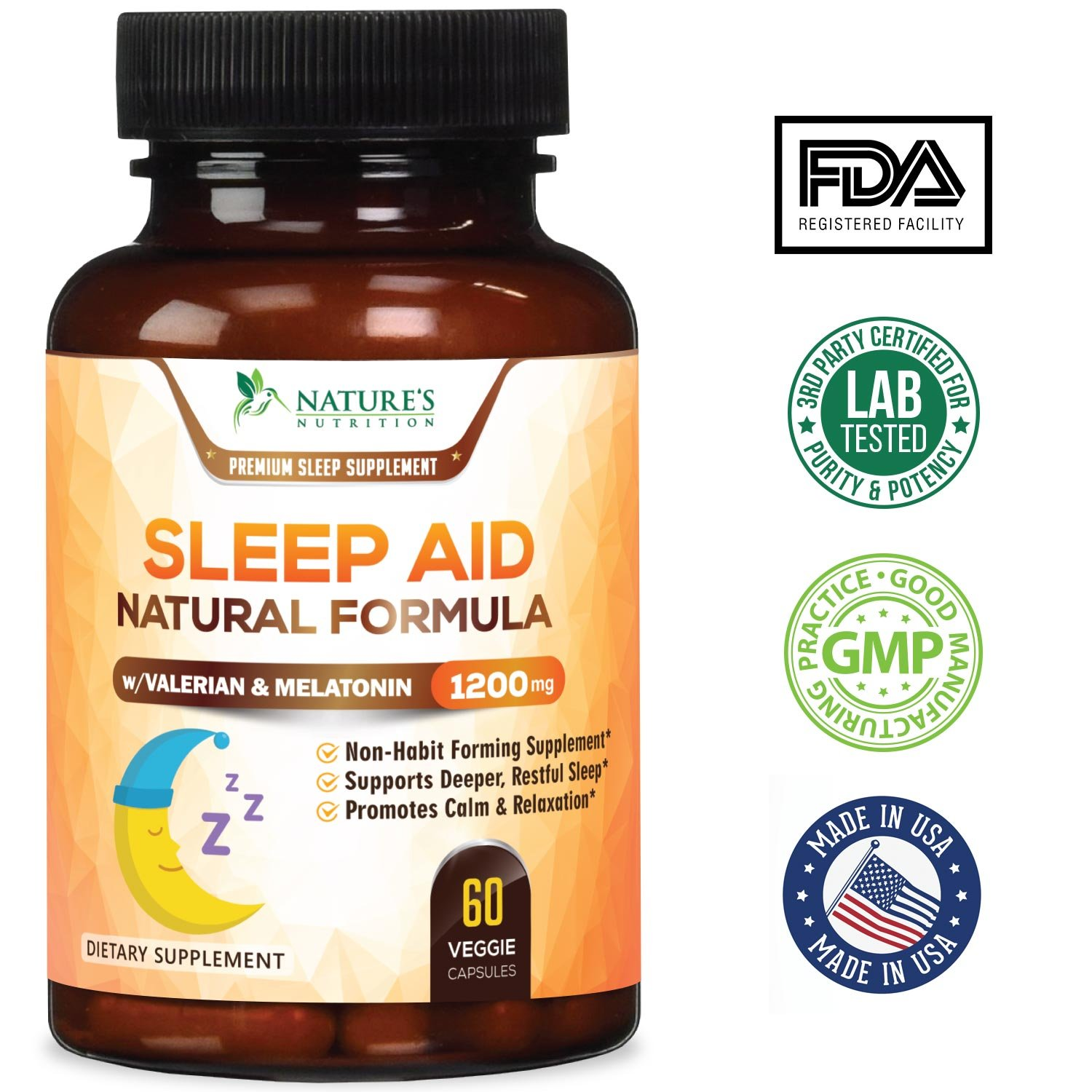 Amazon.com: Natural Sleep Aid Extra Strength Herbal Sleeping Pills with Melatonin, Valerian, Inositol & Chamomile - Natural Stress, Anxiety & Insomnia ...