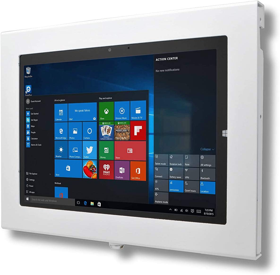 "TABcare Locking Anti-Theft Metal Case for Dell Latitude Venue 8"" 10"" 12"" Tablet for Kiosk, POS, Store, Show Display, Time Clock (Latitude 7275, White)"