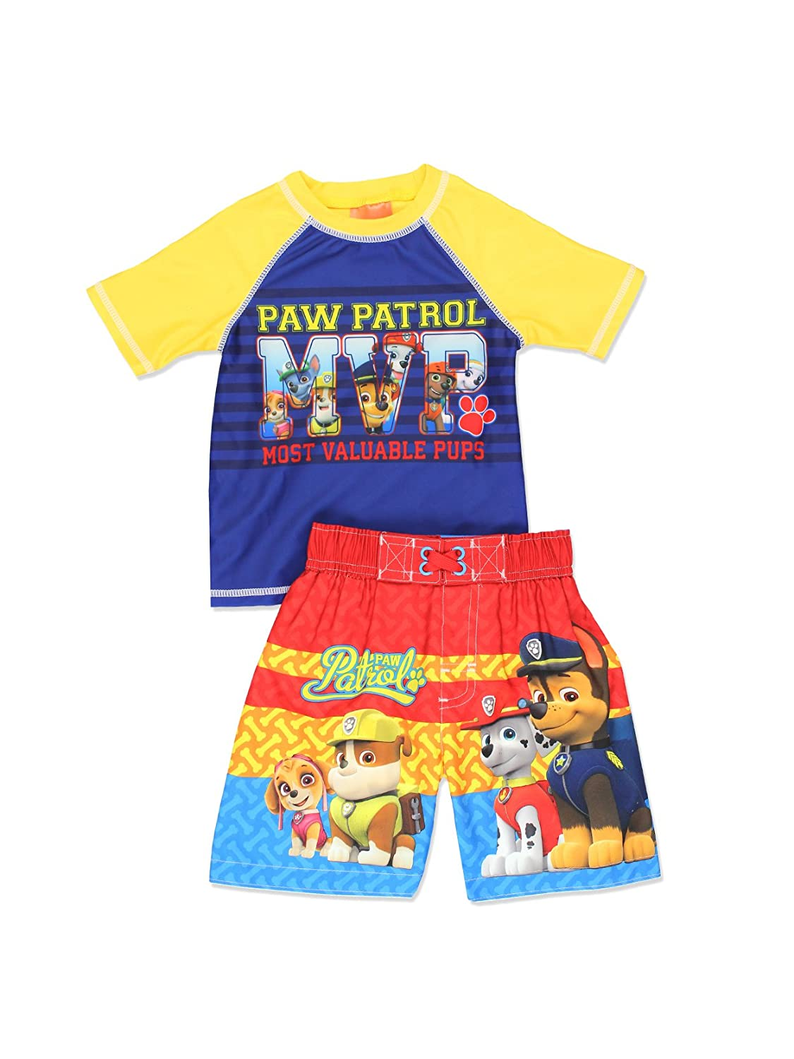 Paw Patrol Boy's Swim Trunks and Rash Guard Set (Toddler) Dreamwave