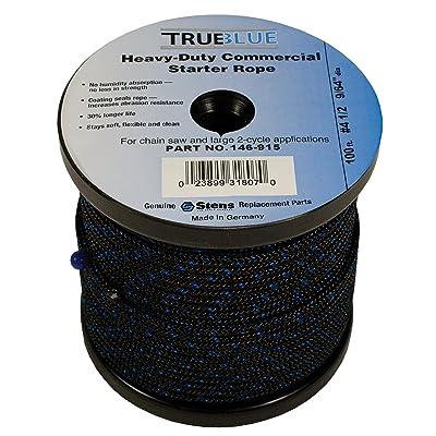 Stens 146-915 Starter Rope, 4-1/2 Solid Braid, 100ft, Black: Industrial & Scientific