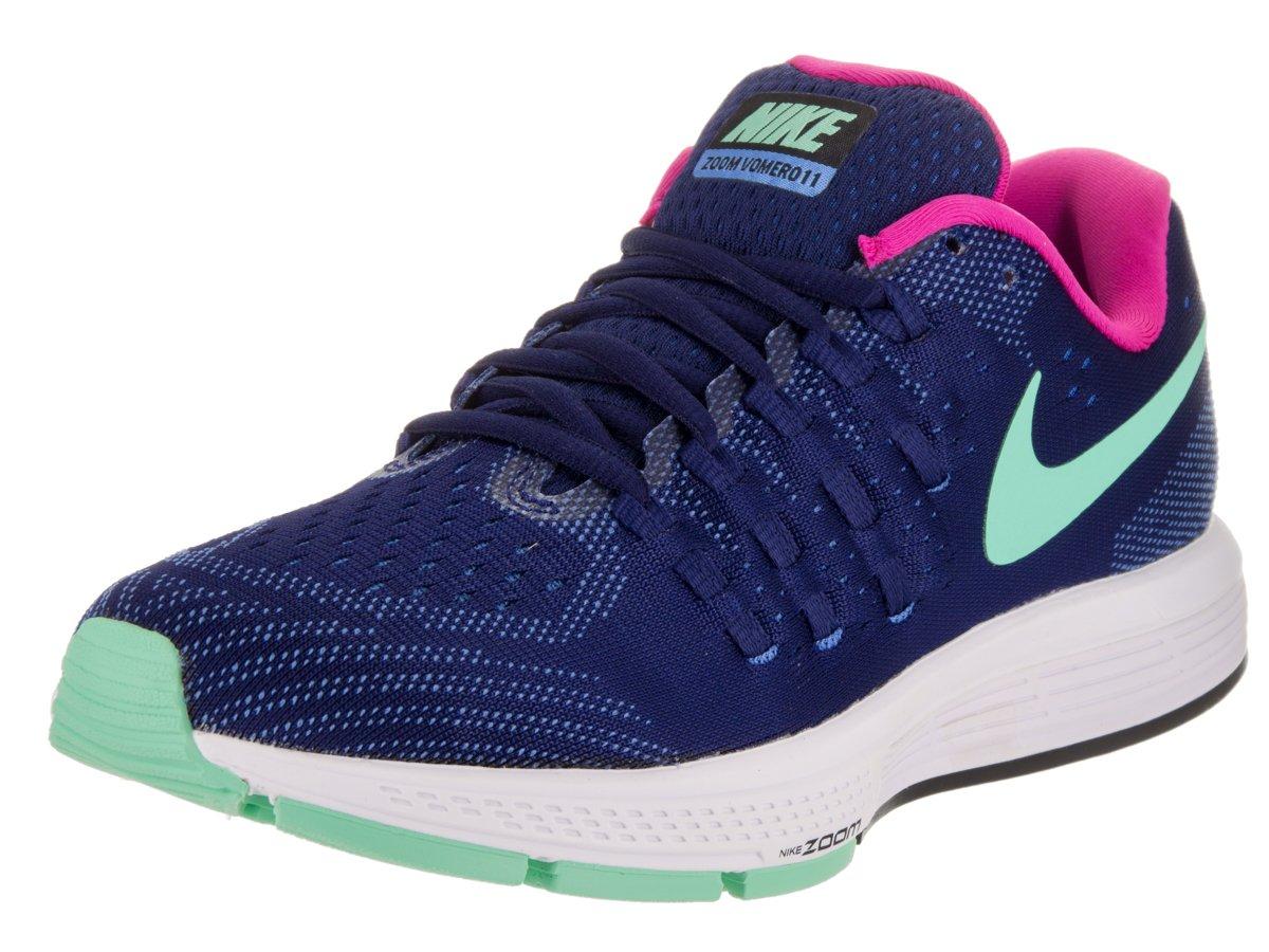 Nike Womens Air Zoom Vomero 11 Running Shoe Loyal Blue/Fountain Blue/White/Green Glow 7 B(M) US
