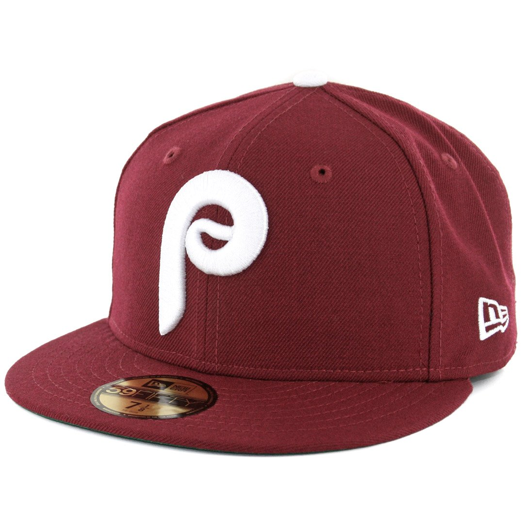 7aa925ec20e Amazon.com   New Era 5950 Philadelphia Phillies 1975 Cooperstown Fitted Hat  (Cardinal) Cap   Sports   Outdoors