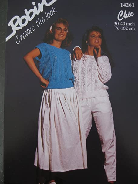 8f0eb519024a6 Knitting Pattern Robin 14261 Chic DK Weight Yarn 76-102cms (30-40