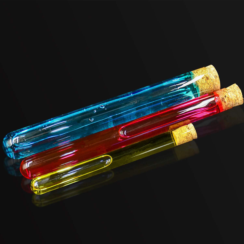 Wandefol Tubo Prova Portaprovette Laboratorio Portaoggetti Staffa con Stativo Cremagliera in plastica Labs provette 6 fori capacit/à tubo 2,3x8x2,5cm