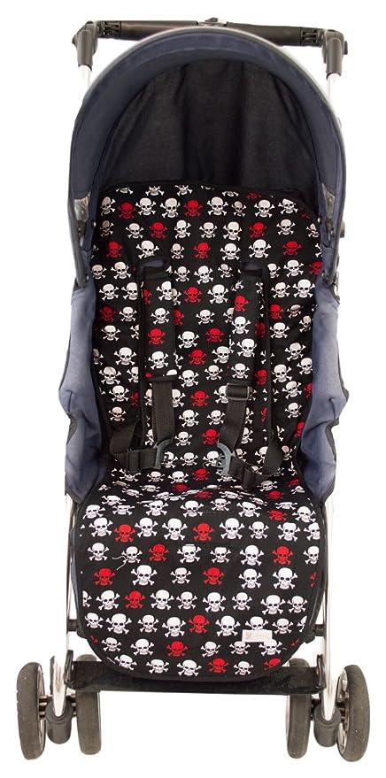 Colchoneta o funda Universal para silla de paseo o cochecito + Protector de arneses. Modelo Calaveras