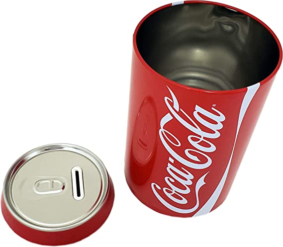 The Tin Box Company Coca Cola Can Bank With Removable Lid Red Model 660227 12 Toys Games Amazon Com