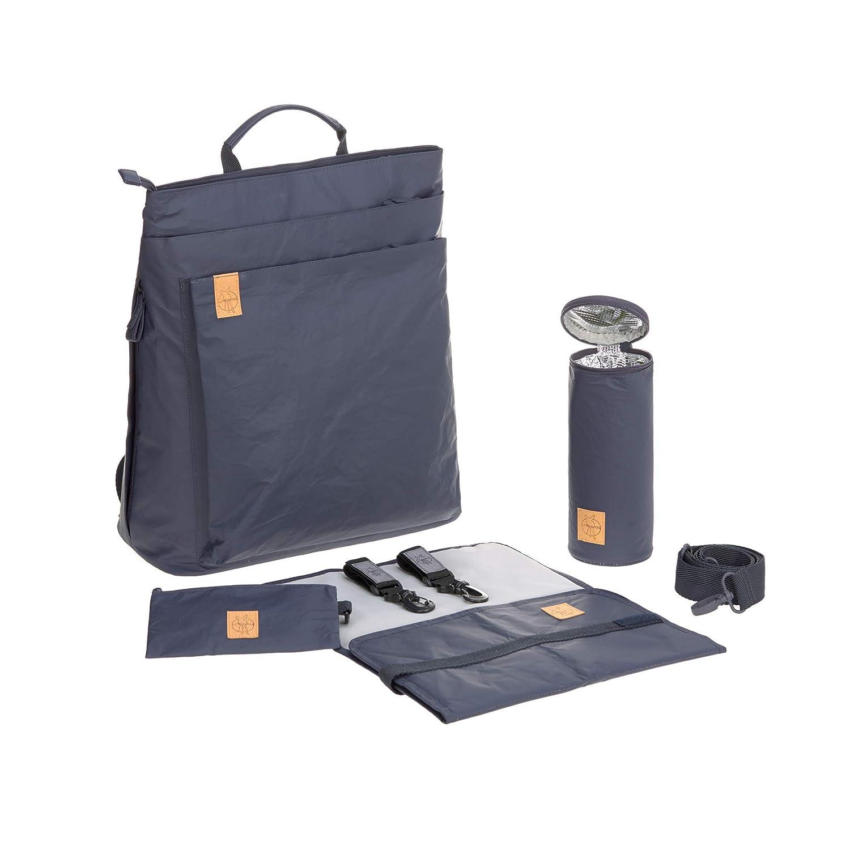 L/ÄSSIG Baby Wickelrucksack Wickeltasche inkl Zubeh/ör nachhaltig produziert//Green Label Tyve Backpack blau