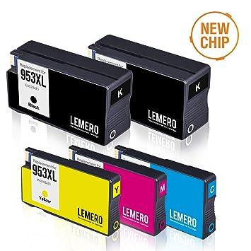 5 LEMERO Compatible 953XL 953 XL Cartuchos de Tinta para HP ...