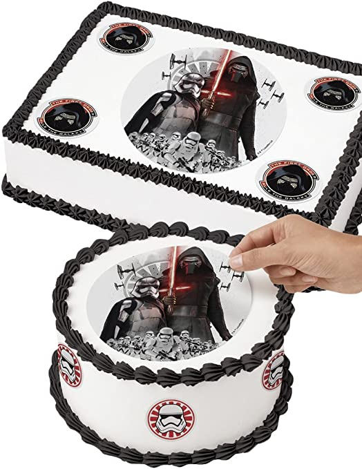 Tremendous Amazon Com Wilton 710 5083 Star Wars Edible Images Cake Funny Birthday Cards Online Overcheapnameinfo