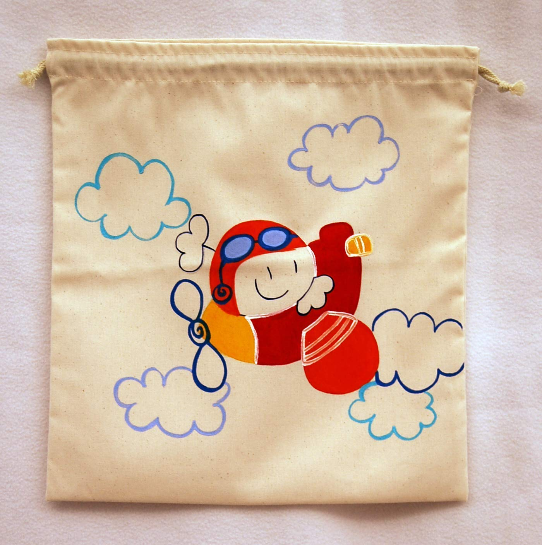 Saco de merienda personalizado Aviador: Amazon.es: Handmade