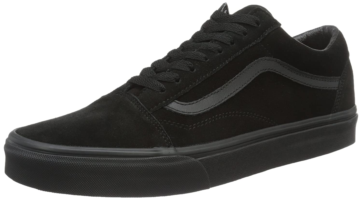 Vans Unisex Old Skool Classic Skate Shoes B01N8UF682 8 M US|Black/Black/Black